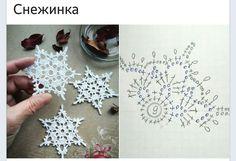 Crochet Snowflake Pattern, Crochet Stars, Christmas Crochet Patterns, Crochet Snowflakes, Thread Crochet, Crochet Motif, Crochet Doilies, Knit Crochet, Crochet Christmas Decorations