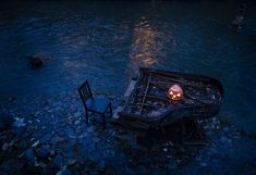 A Halloween jack-o'-lantern sits on an old piano along the Vilnele river in Vilnius, Lithuania, on October of the Week: Bike Jousting, Mariachi Surfers, Frozen Whiskers - The Atlantic Visit Croatia, Croatia Travel, Thailand Travel, Bangkok Thailand, Poland Travel, Italy Travel, Old Pianos, National Weather, California Wildfires
