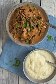 Slik lager du en rask biff stroganoff   Coop Marked Norwegian Food, Scandinavian Food, Recipes From Heaven, Quick Easy Meals, Food For Thought, Beef Recipes, Main Dishes, Food Porn, Food And Drink