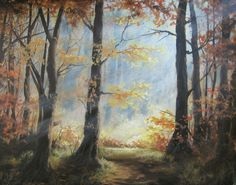 """""""Light Through the Forest"""" Acrylic Painting by Kevin Hill Watch short painting lessons on YouTube: KevinOilPainting Visit my website: www.paintwithkevin.com Find me on Facebook: Kevin Hill Follow me on Twitter: @Kevin Hill"""