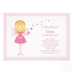 Sweet Fairy Birthday Party Invitation