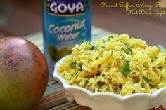 Coconut Saffron Mango Rice Food Done Light #ricerecipe #recipecoconut #ricecoconut