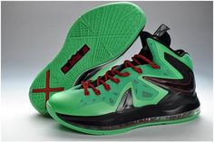 7f5a624bbc1b Nike Lebron 10 Elite Green Black Red Christmas Lebron 11