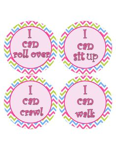 Pink Milestone Stickers I Can Stickers by MoonLitPrintables, $3.00