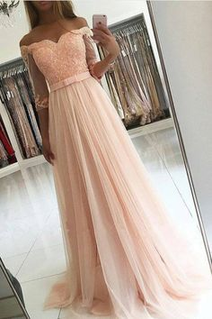 Long Prom Dresses With Sleeves, Pink Prom Dresses Lace, Sweet Evening Dresses A-line Graduation Dresses Off-the-shoulder sold by lcydress. Shop more products from lcydress on Storenvy, the home of independent small businesses all over the world. Sexy Evening Dress, Prom Dresses Long With Sleeves, Pink Prom Dresses, Tulle Prom Dress, Cheap Prom Dresses, Homecoming Dresses, Lace Dress, Tulle Lace, Long Dresses