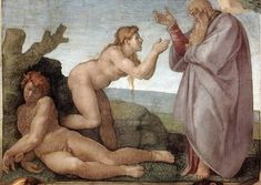 The Creation of Eve within the Sistine Chapel ceiling is the first painting in which Michelangelo depicted the fatherly God.