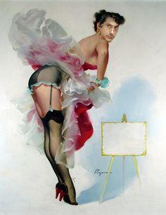 Robert Downey, Jr. as a Pin Up Girl