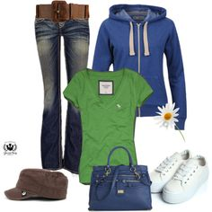 Blue and green #2 by stefani-nelson on Polyvore