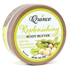 Soothe your body and mind! Quince Replenishing Body Butter is an essential fatty acid rich blend made from Soy, Macadamia Nut and Lemongrass to soothe body and mind. It replenishes the skin's lipid barrier, holding in natural moisture while calming and softening dry, chaffed or damaged skin. http://www.quincebutters.com/index.php?main_page=product_info=1_id=9