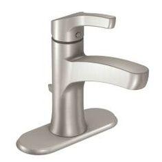 Spot resist brushed nickel one-handle high arc bathroom faucet