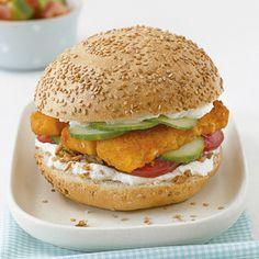 Fischstäbchen-Burger Rezept   Küchengötter
