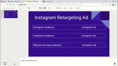 This tutorial video will help you to setup Instagram Retargeting ads. You will learn step by step process and fundamental of Instagram retargeting. #instagrammarketing #instagram #marketing #blogging #ppc #smm #socialmedia Online Business, Blogging, How To Make Money, Campaign, Social Media, Ads, Marketing, Website, Learning