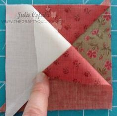 "I'm back with a tutorial on how to make quarter-square triangle units. I used them in Block 1 of the ""Paris In The Fall"" BOM post from a few days ago. In today's tutorial, I have made them into an Ohio Star block. You will need four squares to make four quarter-square triangle (QST) units.…"