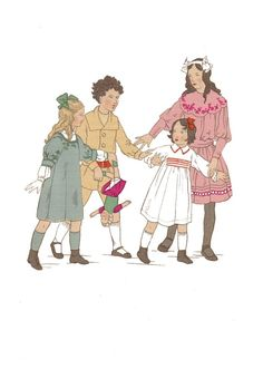 edwardian children's fashion | ... A4 image. For more children's images of girls go to children section