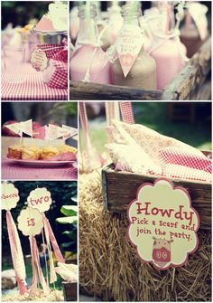 Idea for Dixie's 2nd birthday party!! Hopefully she'll agree with mommy that a cowgirl theme party sounds fun!