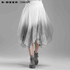 sdeer圣迪奥专柜正品女装2015新款渐变层次网纱拼接长裙5181176-tmall.com天猫