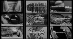 Opening titles to 1962 film of To Kill A Mockingbird, designed by Stephen Frankfurt.
