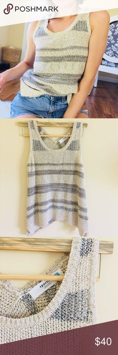 Anthropologie Sparrow Cream Sweater Knit Tank M Beautiful clean condition.  Perfect for day wear or beachy days.  Size M and fits true to size. sparrow Tops Tank Tops