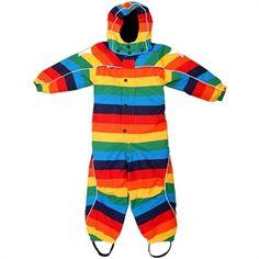 Molo: rainbow snow suit