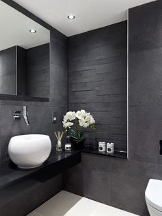 Is your home in need of a bathroom remodel? Give your bathroom design a boost with a little planning and our inspirational 65 Most Popular Small Bathroom Remodel Ideas on a Budget in 2018 Grey Bathroom Interior, Grey Bathrooms, Modern Bathroom Design, Contemporary Bathrooms, Beautiful Bathrooms, Small Bathroom, Bathroom Ideas, Bathroom Designs, Master Bathroom