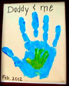 "Father's Day Crafts for Toddlers | ... Crafts for Kids*: Father's Day Handprint ""Daddy and Me"" Craft"