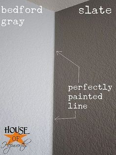 how to paint perfect lines >> wish I'd read this technique before we did all our painting!
