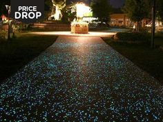 Glow in the dark pebbles Charge in the sunlight Available in white or multi-coloured Made from photo-luminescent pigment and resin Great for your garden Delivery £2.99* Forget glow-worms, let this bright idea light up your garden. These glow in the dark...