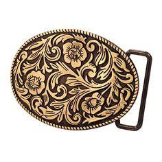 Buckle Rage Womens Southern Girl Flowers Western Cowgirl Ornate Oval Belt Buckle