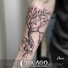 Tree tattoos can be a symbol of wisdom, life and strength.