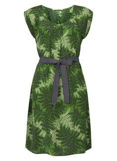 Thandi Print Silk Sleeveless Dress in Amazon