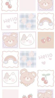 Cute Pastel Wallpaper, Soft Wallpaper, Cute Patterns Wallpaper, Kawaii Wallpaper, Wallpaper Iphone Cute, Wallpaper Backgrounds, Iphone Android, Phone Themes, Minimalist Wallpaper