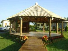 Outdoor Rooms, Outdoor Living, Bungalow, Gazebos, Outdoor Shelters, Building A Pergola, Backyard Pergola, Island Design, Outdoor Kitchen Design