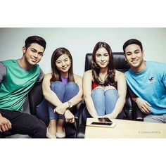 "This is the Kenzo Gutierrez, Julia Barretto, Miles Ocampo, and Iñigo Pascual, the cast of ""And I Love You So,"" smiling for the camera during the taping of the ABS-CBN 2015 Christmas Station ID theme song, ""Thank You for the Love!"" Indeed, they are great Kapamilya talents and amazing Star Magic talents. They're also kind and helpful. #JuliaBarretto #MilesOcampo #KenzoGutierrez #IñigoPascual #AndILoveYouSo #ABSCBNChristmasStationID #ThankYoufortheLove Child Actresses, Child Actors, Inigo Pascual, Enrique Gil, Star Magic, Daniel Padilla, Liza Soberano, Jadine, Big Love"