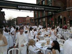 Diner en Blanc at the Distillery Historic District, Toronto