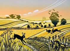 Hares in the Stubble - Rob Barnes