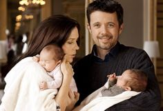 Crown Prince & Crown Princess of Denmark, with their twins.