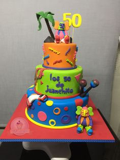 Torta Carnaval de Barranquilla Sweet Cakes, 60th Birthday, Home Interior, Themed Cakes, Holidays And Events, Quinceanera, Desserts, Recipes, Cake