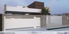 3DSul   Maquete Eletrônica 3D: Projeto Arquitetonico 3D - Casa Moderna com Piscina