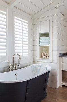 Shiplap. Bathroom with shiplap walls. #Shiplap #ShiplapWalls