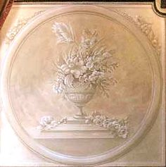 painted medallion for wall