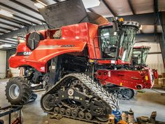 Our shops are all filled with combines in preparation for harvest. Check out this 8230 combine on tracks we found in our Newton shop a couple weeks ago. What is your favorite part of running the combine during harvest? Diesel Brothers, New Tractor, Combine Harvester, Case Tractors, Case Ih, International Harvester, Couple Weeks, Cummins, Heavy Equipment