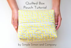 Quilted Box Pouch Tutorial - Simple Simon and Company