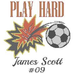 A personal favorite from my Etsy shop https://www.etsy.com/listing/204107414/modern-soccer-cross-stitch-pattern-play