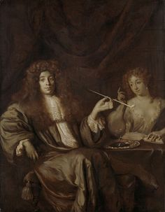 Ary de Vois (Dutch, 1632–1635 - 1680), attributed to - Adriaan van Beverland, Writer of Theological Works and Satirist, with a Prostitute, 1670 - 1680. Rijksmuseum
