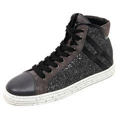 B7468 sneaker donna HOGAN REBEL R182 scarpa grigio/nero shoes woman [37.5] in OFFERTA su www.kellieshop.com Scarpe, borse, accessori, intimo, gioielli e molto altro.. scopri migliaia di articoli firmati con prezzi in SALDO #kellieshop Seguici su Facebook > https://www.facebook.com/pages/Kellie-Shop/332713936876989