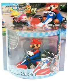 """Nintendo Mario Kart Large Pull Back by Nintendo. $13.95. Intended for ages 7+. Offically licensed product of Nintendo. Perfect addition to any Mario collection. Simply drag your cart in reverse until it makes a """"click"""" sound, then let go. Ready to race out of the box. From the Manufacturer                Bring the fast, action packed excitement of MarioKart racing into your own home with the large Mariokart Wii pull-back racer. These large sized Mario Karts are approximately 4.5""""..."""