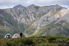 Camping nr Peel River, Yukon