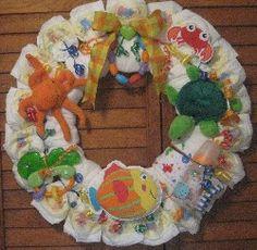 Heartstrings Creations - Baby Boy Diaper Wreaths - Under The Sea