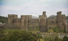 Majestic thirteenth century. Conwy castle in north Wales.