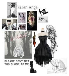CreepyPasta OC by sky-alex on Polyvore featuring polyvore fashion style clothing